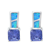 Tanzanite & Blue Opal .925 Sterling Silver Earring