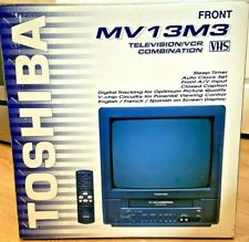 """Toshiba MV13M3 13"""" TV/VCR Combination - VHS PLAYER and TV - Gaming TV No Remote"""