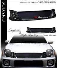 FOR 2002-2003 IMPREZA WRX JDM BLACK ZERO ALUMINUM MESH FRONT BUMPER GRILL GRILLE
