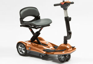Drive Dual Wheel  Automatic Folding Mobility Scooter Lightweight Portable 4mph