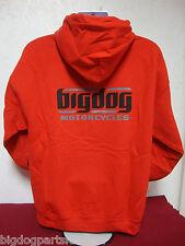 BIG DOG MOTORCYCLES 2 X-LARGE RED SWEATSHIRT SIGNATURE LOGO  FRONT/BACK DESIGN