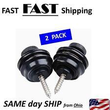 custom guitar parts - black fancy guitar strap locks ---- BLACK --- FAST US ship