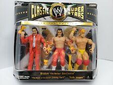 Hulk Hogan Brutus Beefcake Jimmy Hart WWE Classic Super Stars figures new in box