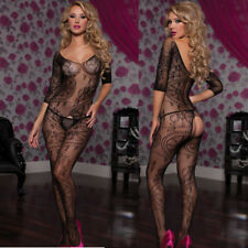 Calza corpo donna bodystocking floreale sexy lingerie intimo notte nuovo DS79394