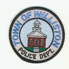 "Town of Williston VT Vermont Police Department 3"" Round Patch"