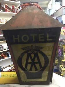Vintage AA HOTEL ILLUMINATED SIGN GARAGE automobilia Automobile Association