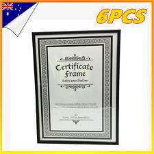 6 x Black A4 Size Acryli Document Certificate Photo Picture Frame Bulk Lots Sets