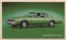 1979 Chevrolet Impala Sport Coupe Automobile Advertising Postcard