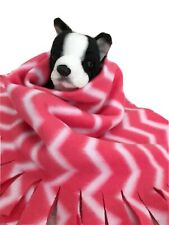 Pink Zigzag, Fuzee Fleece Dog Blankets,Soft Pet Blanket Travel Throw Cover