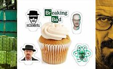breaking bad x24 edible stand up cup cake toppers wafer paper pre-cut