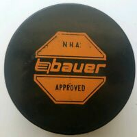 N.H.A. BAUER APPROVED HOCKEY PUCK RARE OFFICIAL MADE IN CZECHOSLOVAKIA OLD GEM!