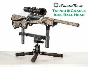 Tripod - Carbon Fibre tripod Short + Ball Head + Gun Cradle Rest - SmartRest