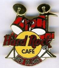 Hard Rock Cafe NEW ORLEANS 1990s RED DRUM Set Kit PIN DRUMS HRC #6329 Grid GCT