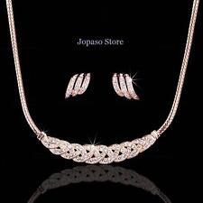 18K Gold Plated Crystal Swarovski Elements Wedding Engagement Jewellery Set S003