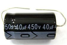 Qty 10 New Miec 40Uf 450V 105C Axial Electrolytic Capacitors