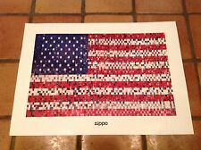Lot of 10 ZIPPO Lighter Posters American Flag USA Click 70TH ANNIVERSARY NEW