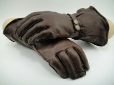 THE AVIATOR NEW Leather Motoring Driving Pilot GAUNTLET Gloves Motorcycle FLYING