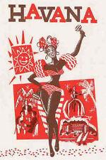 HAVANA  Cuba   Vintage 1950's Style Travel Decal sticker Habana
