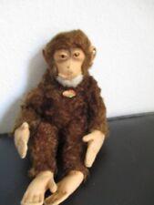STEIFF Tier Affe Schimpanse Jocko 24 cm 50er 60er Jahre + Knopf + Schild