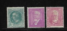 France Scott #291-#293 mint lightly hinged 1933 Victor Hugo set og f/vf clean