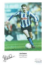 John SHERIDAN Signed Autograph Ltd Edition Print Sheffield Wednesday AFTAL COA