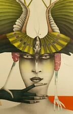 """PAUL WUNDERLICH 1985 """"BIRD OF PARADISE"""" ORIGINAL SIGNED LITHOGRAPH 373/1000"""