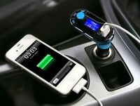 Car Kit Wireless FM Transmitter LCD MP3 Player USB Charger AUX USB TF U Disk USA