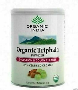 Organic India Triphala Powder Digestion & Colon Cleanse Certified Organic 100Gm