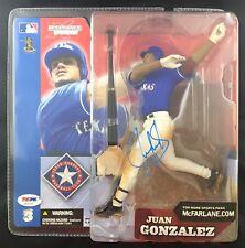 Juan Gonzalez autographed signed Mcfarlane Figure MLB Texas Rangers PSA w/ COA