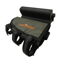 Tourbon Rifle Buttstock Holder Cheek Piece Rest Pad Ammo Pouch Adjustable Height