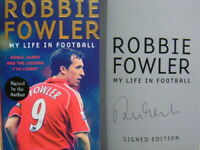 Signed Book My Life in Football by Robbie Fowler Hdbk 1st Edition LFC Liverpool