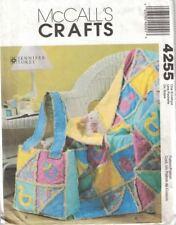 McCalls Crafts 4255 Patchwork Rag Quilt & Diaper Bag for Baby Uncut Pattern