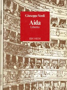 Aida. Libretto. . Giuseppe Verdi. 1986. .