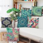 Colorful Geometry Cotton Linen Cushion Cover Throw Pillow Case Sofa Home Decor