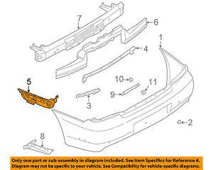 SUBARU OEM 02-03 Impreza Rear Bumper-Bumper Cover Side Bracket Left 57717FE160