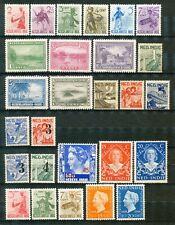 Nederlands Indië  27 postfrisse zegels in complete series