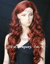 EXTRA LONG Curls Jessica Rabbit Copper Red Side Skin top WIGS JSOB 130