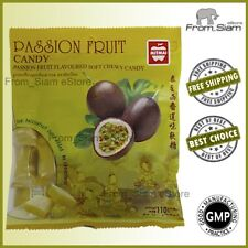 PASSION FRUIT Soft Chewy CANDY Sweet Sweetmeats Lollipops - 110g (3.88oz)