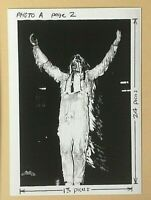 UNIVERSITY OF ILLINOIS CHIEF ILLINIWEK banned vtg.1960s PRESS PHOTO 3x5 REPRINT