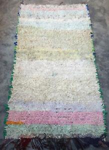 Moroccan Tribal boucherouite rug  188 x 100cm