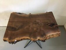 Handmade Black walnut slab accent table