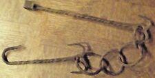 ancienne Chaine fer forgé torsadé avec griffe chaudron lustre etc..... 97 cm