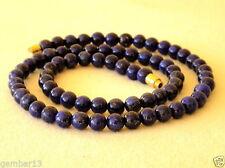 Round Lapis Lazuli Beaded Costume Necklaces & Pendants