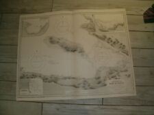 Vintage Admiralty Chart 801 HAITI - APPROACHES TO PORT AU PRINCE 1933 edn