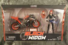 Marvel Legends Series TRU Black Widow w/ Cycle Motorcycle Bike Set Sealed in Box