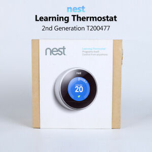 Google Nest Smart  Learning Thermostat 2nd Genernation T200477 in box