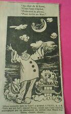 Caricature 1963  Pierrot Au clair de la Lune c'est l'ami charlot