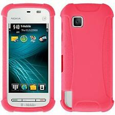 AMZER Silicone Soft Skin Jelly Fit Case Cover for Nokia Nuron 5230 - Baby Pink