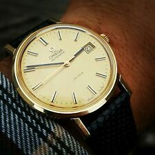 Splendid Vintage Gents 9ct Gold Omega DeVille Automatic cal.1012 c.1973 SERVICED