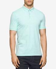 Calvin Klein Men's Textured Short Sleeves Polo T-Shirt Mint Splash Size XL